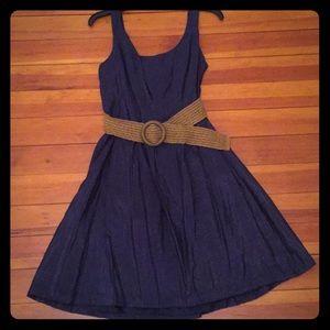 Navy a line Nine West dress